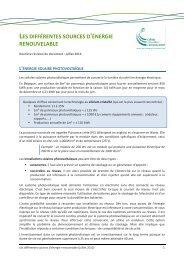 les différentes sources d'énergie renouvelable - Energie-entreprise.be