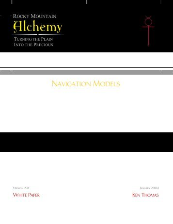 Navigation Models - Rocky Mountain Alchemy Splash Page