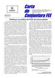 Carta de Conjuntura FEE, ano 22, n. 7, julho de 2013