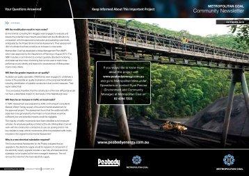 Metropolitan Coal Community Newsletter October ... - Peabody Energy