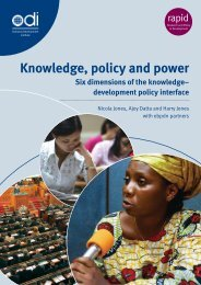 Knowledge, policy and power: Six dimensions of the knowledge ...
