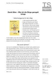 David Allen – Wie ich die Dinge geregelt kriege - Tsreport