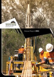 20110930 Annual Report 2011 - White Rock Minerals