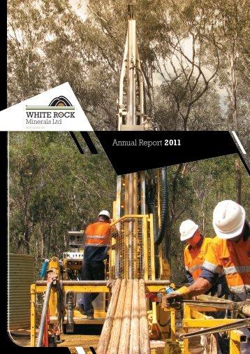 20110930 Annual Report 2011 - White Rock Minerals