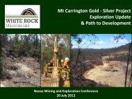 Investor Presentation July 2012 - White Rock Minerals