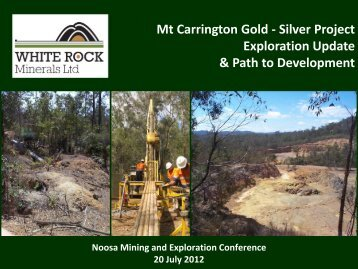 Investor Presentation July 2012 - White Rock Minerals
