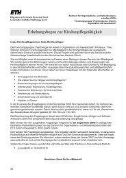 Fragebogen für Kirchenpflegen, mit den Ergebnissen - Reformierte ...