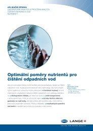 Optimální poměry nutrientů pro čištění odpadních vod - HACH LANGE