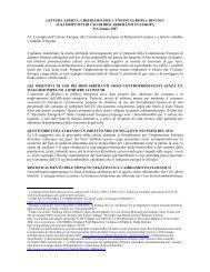 LETTERA APERTA: CHIEDIAMO CHE L'UNIONE EUROPEA ...