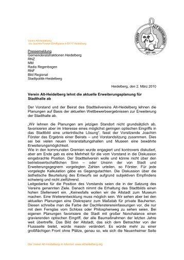 PI Stadthalle - Stadtpolitik Heidelberg