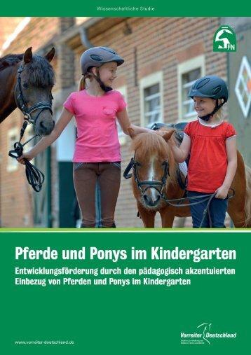 Pferde und Ponys im Kindergarten - Vorreiter Deutschland