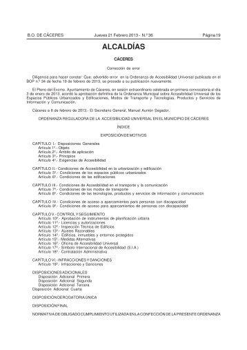 2013 BOP Ordenanza Accesibilidad Universal