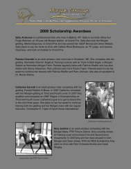 2008 Scholarship Awardees - Morgan Dressage Association