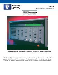 Princeton Applied Research 273A - Helmut Singer Elektronik