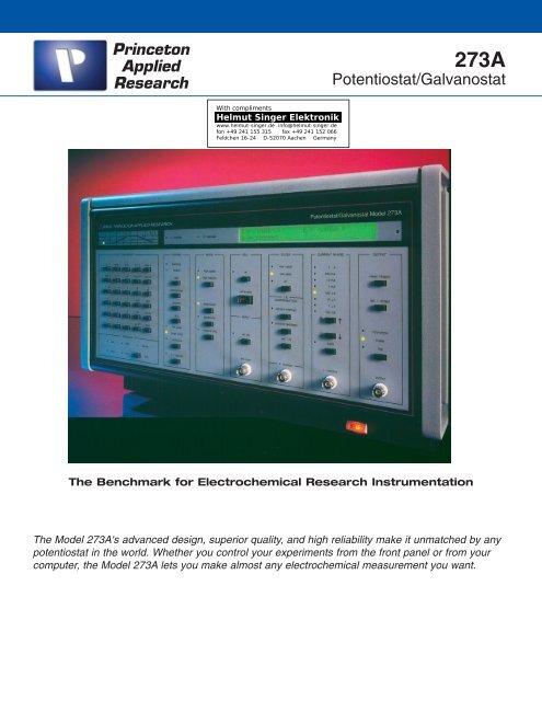 Princeton Applied Research 273A - Helmut Singer Elektronik