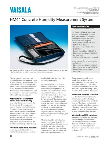 HM44 Concrete Humidity Measurement System - Vaisala