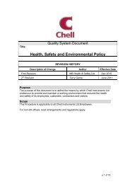 H & S policy - Chell Instruments Limited