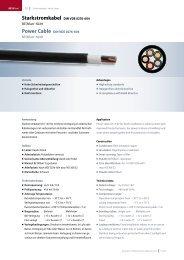 Starkstromkabel DIN VDE 0276-604 - LEONI Infrastructure & Datacom