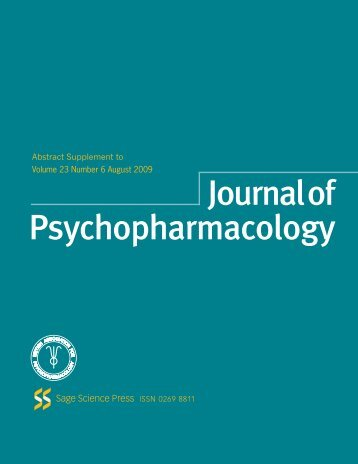Abstract Supplement to Volume 23 Number 6 August 2009