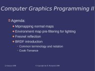 Computer Graphics Programming II - FreeDesktop.Org
