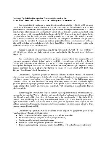 Ortopedi ve Travmatoloji Ana Bilim Dalı - Hacettepe Üniversitesi Tıp ...
