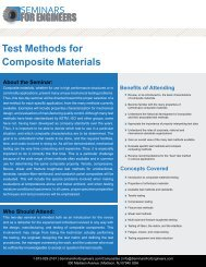 Test Methods for Composite Materials - Seminars for Engineers