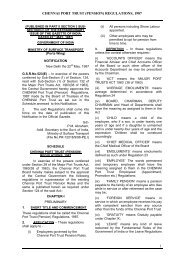 (PUBLISHED IN PART II SECTION 3 SUB ... - Port of Chennai