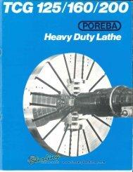 Poreba Lathe TCG 125 160 200 Brochure - Sterling Machinery