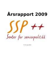 Årsrapport 2009 - Senter for seniorpolitikk
