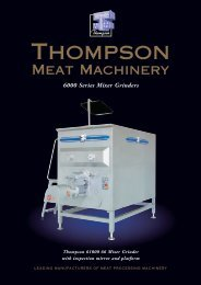 Specifications - Meat Processing Suppliers