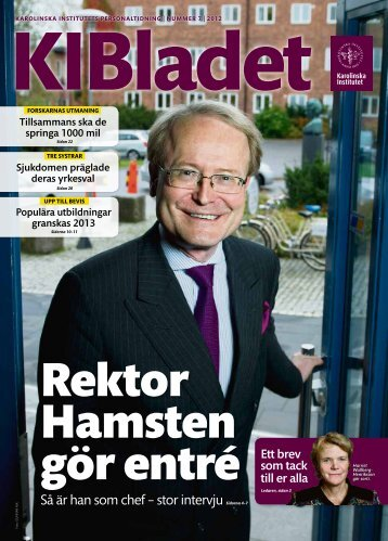 Så är han som chef – stor intervju - Internwebben - Karolinska Institutet