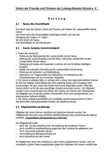 Satzung - Willkommen auf dem Materialienserver der Ludwig ...