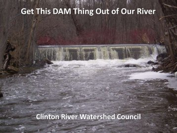 Paint Creek Dam Removal