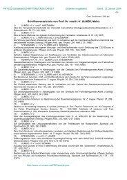 Veröffentlichungen - Johannes Gutenberg-Universität Mainz