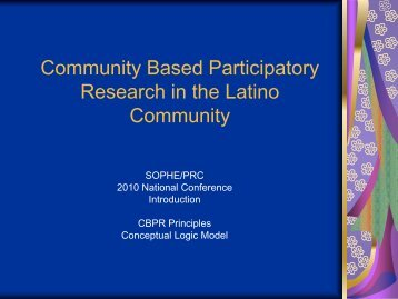 Community Based Participatory Research in the Latino Community