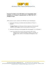 Proposed Variation to the NSW Rail Access Undertaking ... - ARTC