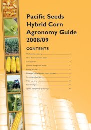 Pacific Seeds Hybrid Corn Agronomy guide 2008 ... - Directrouter.com