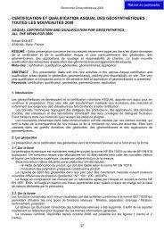 certification et qualification asqual des géosynthétiques