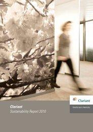 Clariant Sustainability Report 2010