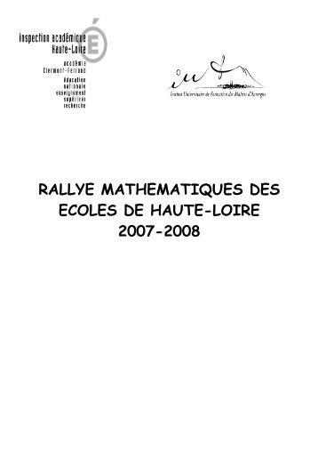 rallye mathematiques des ecoles de haute-loire 2007-2008