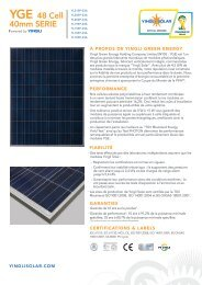 YGE 48 Cell 40mm SERIE - Yingli Solar