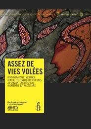 Discriminations et violences contre les femmes ... - YWCA Canada