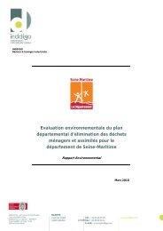 Rapport environnemental (mars 2010) - Département de Seine ...