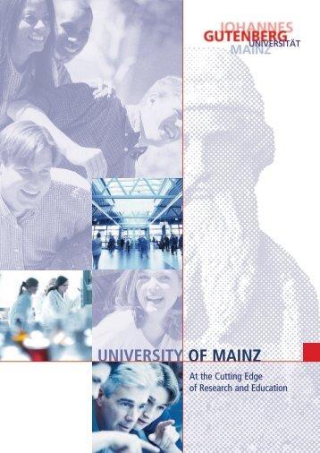 Insight - the JGU Image Brochure - Johannes Gutenberg-Universität ...