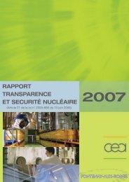 RAPPORT TRANSPARENCE ET SECURITÉ NUCLÉAIRE - CEA