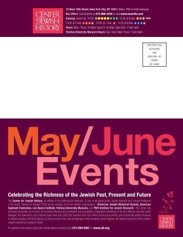 Celebrating the Richness of the Jewish Past, Present and Future