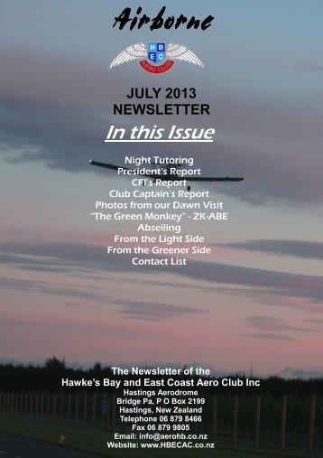 JULY 2013 - HB&EC; AERO CLUB