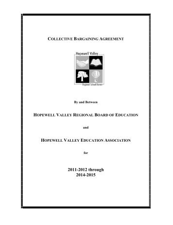 Collective Bargaining Agreement Hopewell Valley Regional