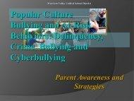 Bullying Presentation Parent/Community - Santa Cruz County Office ...