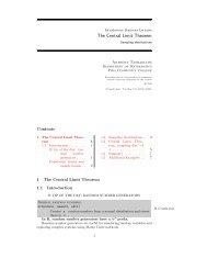 The Central Limit Theorem - Anthony Tanbakuchi